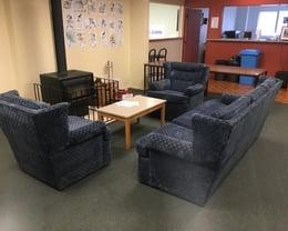 Kumeu Main Lounge area with Fire Place